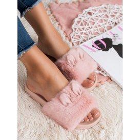 Ružové papučky s kožúškom