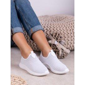 Nazúvacie biele športové topánky