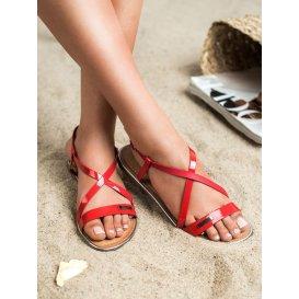 Lakované ploché sandále