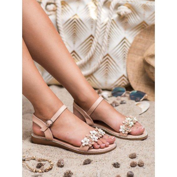 Sandálky s kvetinami