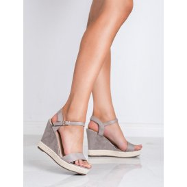 Šedé sandále espadrilky