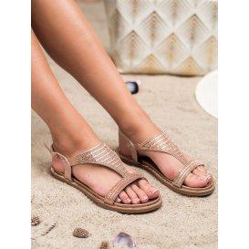Neforálne sandále so zirkónmi