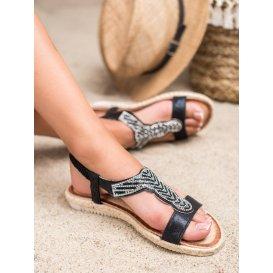 Nazúvacie sandále espadrilky