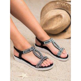 Sandále na kline s gumičkou