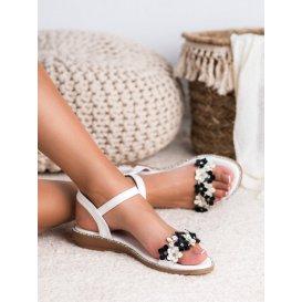 Sandále s kvetmi