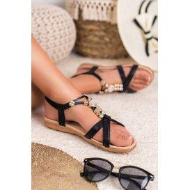 Ploché zdobené sandále