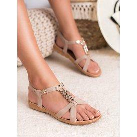 Béžové nazúvacie sandále