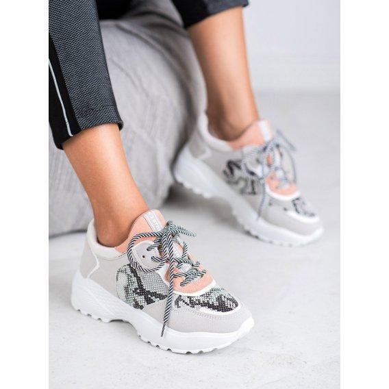 Módne sneakersy s haďou potlaoču