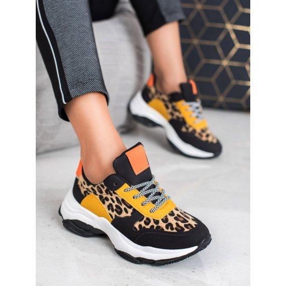 Viacfarebné sneakersy s leopradím vzorom