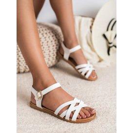 Klasické biele sandále