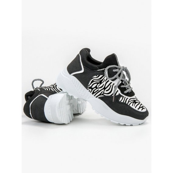 Módne sneakersy zebra print