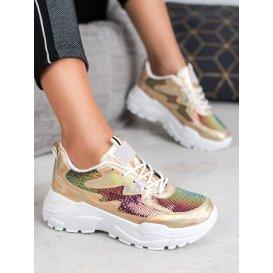 Zlaté sneakersy s flitrami