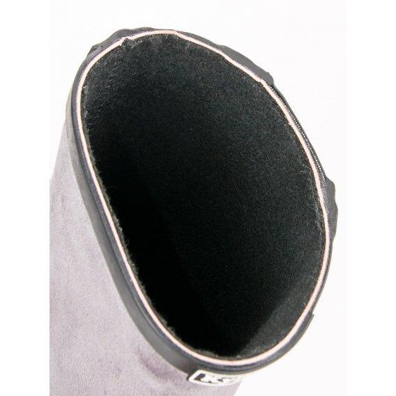 Semišové gumáky s ozdobním zipsom