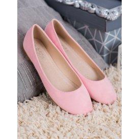 Ružové semišové baleríny