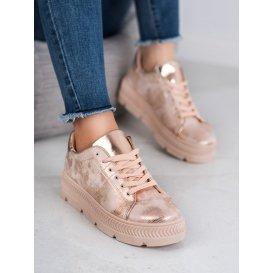 športové topánky na platforme Rose Gold