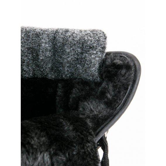Módne čierne snehule ANN19-14406B