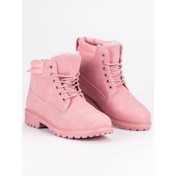 Ružové zaptelené traperky