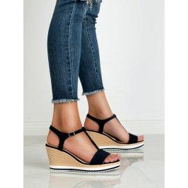 Ľahké tmavo modré sandále