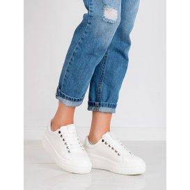 Biele športové topánky na platforme