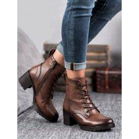 Hnedé šnurovacie topánky Vinceza