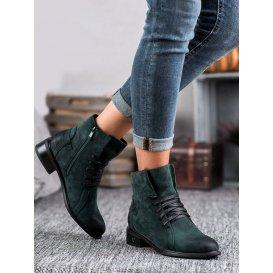 Tmavo zelené dámske topánky