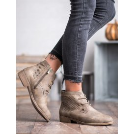 Dierkované topánky khaki