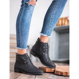 Dierkované topánky čierne