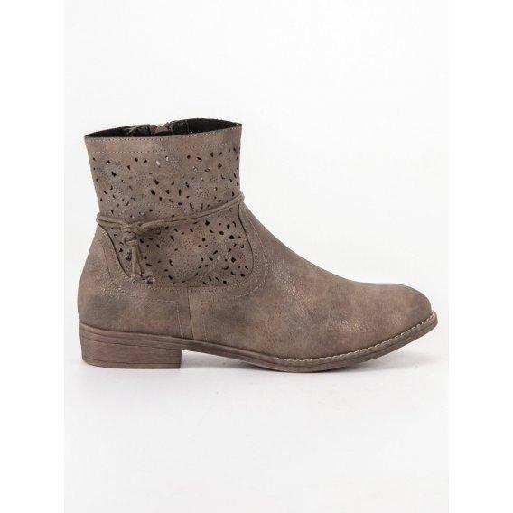 Dierkované dámske topánky