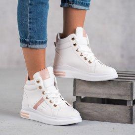 Biele dámske sneakersy
