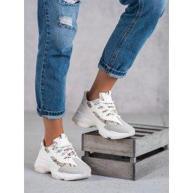 Viazané sneakersy s hadím vzorom