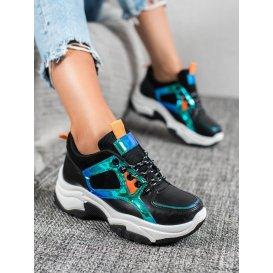 Športové topánky s efektom holo