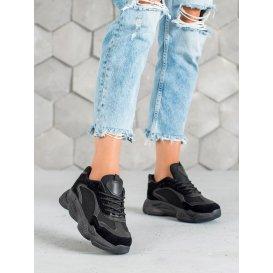 Čierne dámske sneakersy