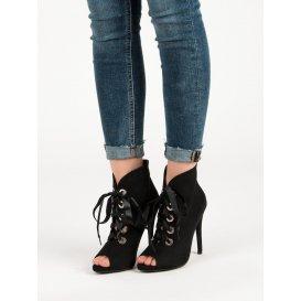 Viazané topánky s otvorenou špičkou