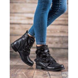 Rockové topánky s perličkami