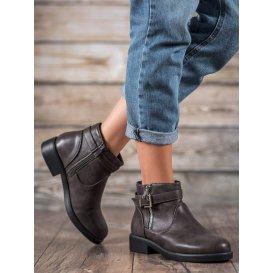 Šedé topánky z eko kože