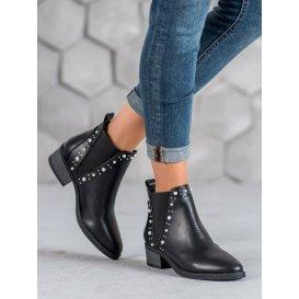 Členkové topánky s perličkami