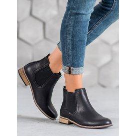 Čierne nazúvacie členkové topánky