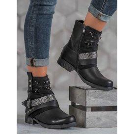 Dámske členkové topánky Biker Boots