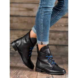 Šnurovacie topánky z eko kože