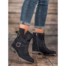 Semišové dámske topánky