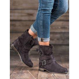 Semišové dámske členkové topánky
