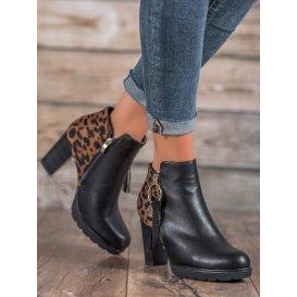 Dámske topánky s leopardím vzorom