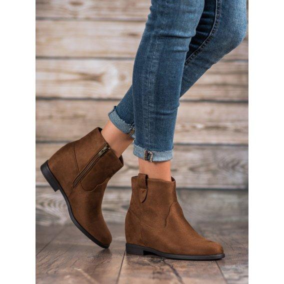 Členkové topánky so skrytým podpätkom