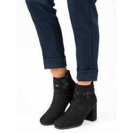 Semišové čierne topánky K1822804NE