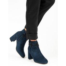 Tmavomodré semišové topánky K1822804MA