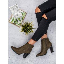 Semišové topánky khaki K1808704KH
