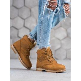 Hnedé dámske zimné topánky