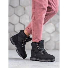 Dámske zimné topánky v čiernom odtieni