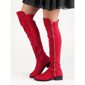 Červené čižmy na zips