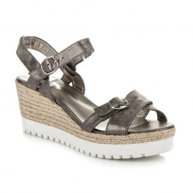 Strieborné sandále espadrilky